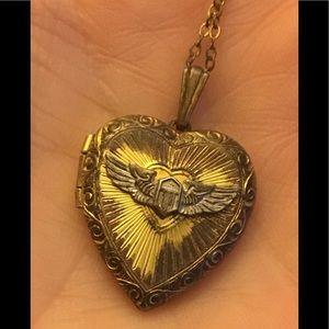 WWII Sweetheart Locket 1/20 12K GF Sterling Silver